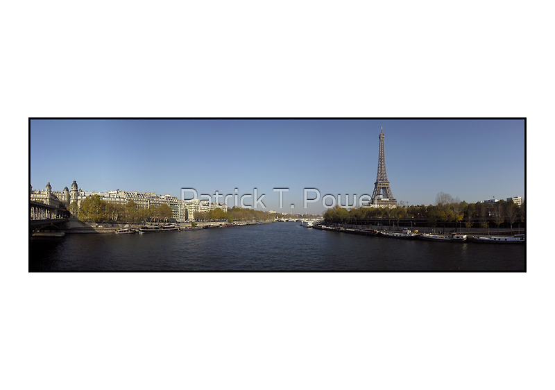Eiffel et le Seine by Patrick T. Power