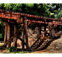 Old Railway Track Bridge  Photographic Print