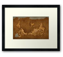 World Map - Upside Down Framed Print