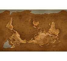 World Map - Upside Down Photographic Print