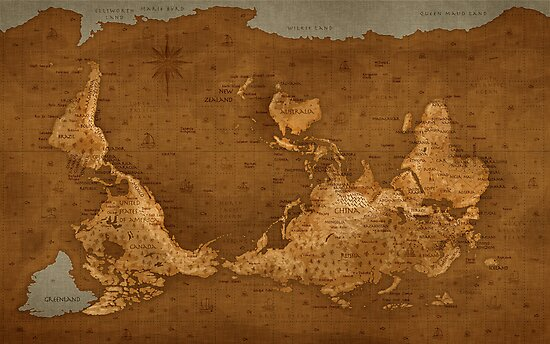 World Map - Upside Down by vladstudio
