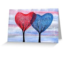Two Hearts, One Love Greeting Card