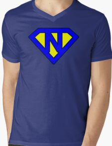 N letter Mens V-Neck T-Shirt