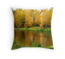 The Golden Days of Autumn Throw Pillow