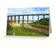 Bridge over the river..... Greeting Card