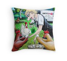 Long Live The Chickens Throw Pillow