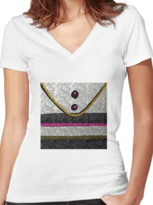 modern executive art gifts and decor Women's Fitted V-Neck T-Shirt