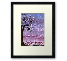 Firefly Tree Framed Print