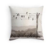 Birds on the wire Throw Pillow