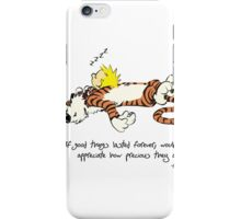 Calvin And Hobbes Quote funny iPhone Case/Skin