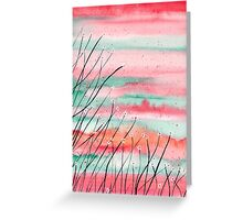 Coral Sky Greeting Card