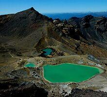 Sulphur pools of Tongariro Crossing by Richard Shakenovsky