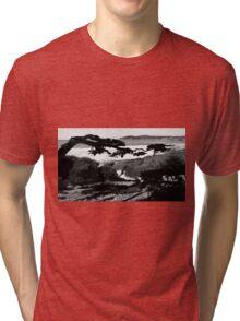 #226  Carmel Beach In Black & White Tri-blend T-Shirt