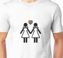 Silhouette Bride and Bride - Tall Unisex T-Shirt