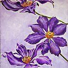 Purple Flowers by Chris King