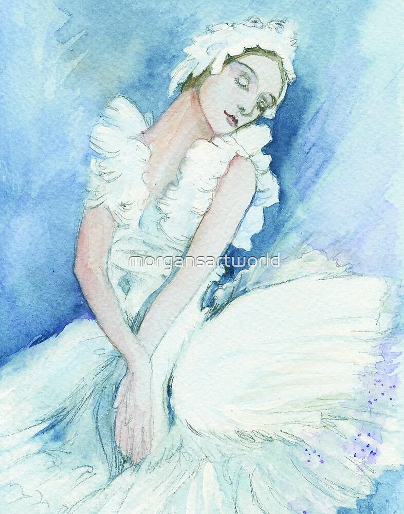 Anna pavlova Swan Lake by morgansartworld