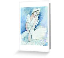 Anna pavlova Swan Lake Greeting Card