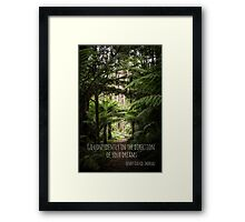 Go Confidently in the Direction of your Dreams Framed Print
