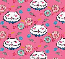 Great Chubby Cat_donuts pink by Hikaru Yagi