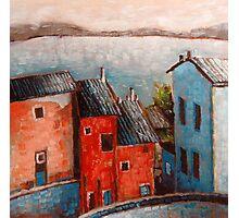 """Landscape VI - 6x6"""" oil painting Photographic Print"""