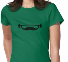 Funny Fitness Mustache / Beard Womens Fitted T-Shirt