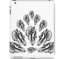 Broken Shells in Black and White iPad Case/Skin