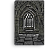 Chapter House - Valle Crucis Abbey, Llangollen Canvas Print