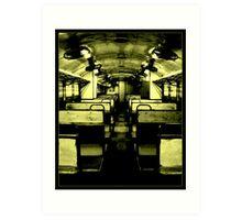 SPOOKY DMU TRAIN Art Print