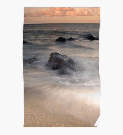Swirls - Sunset at Ella Bay Poster