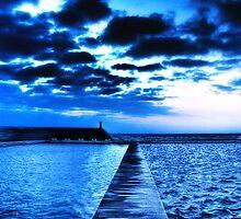 Divided - Newcastle Ocean Baths by Leighton Wallis