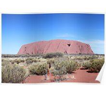 Heart of Australia - Uluru, Central Australia Poster