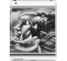©AeroArt Caballero Jaguar / Jaguar Warrior Monochrome iPad Case/Skin