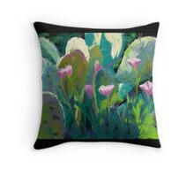 Cactus and California Poppies Throw Pillow