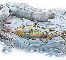 Nautilus v Sperm Whale by SnakeArtist