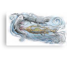 Nautilus v Sperm Whale Canvas Print