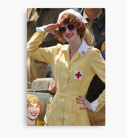 WWII Nurse  Canvas Print
