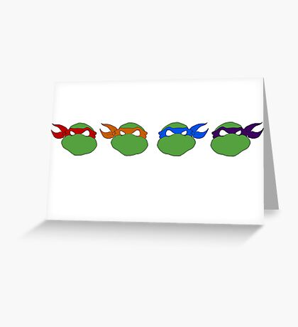 TMNT graphic heads Greeting Card