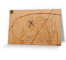 Web droplets Greeting Card