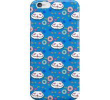 Great Chubby Cat_donuts blue iPhone Case/Skin