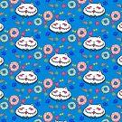 Great Chubby Cat_donuts blue by Hikaru Yagi