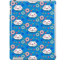 Great Chubby Cat_donuts blue iPad Case/Skin