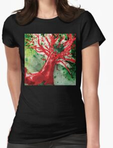 Red Tree Womens Fitted T-Shirt