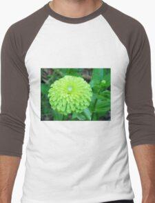 Lime Color Flower Men's Baseball ¾ T-Shirt