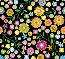 Seamless pattern with flower  by orgus88
