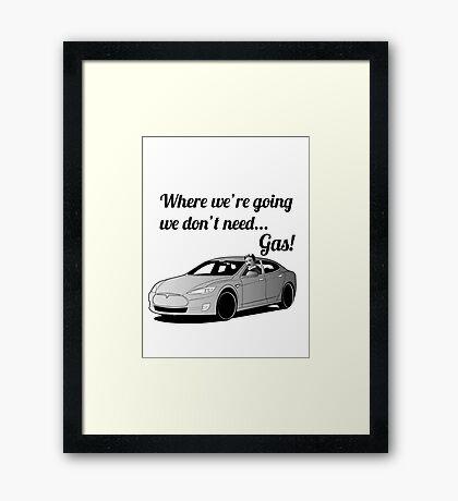 Where we're going... Framed Print