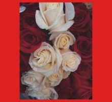 Romantic Red and White Roses Kids Clothes