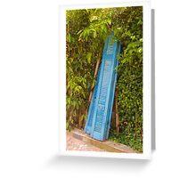 Greek Doors Greeting Card