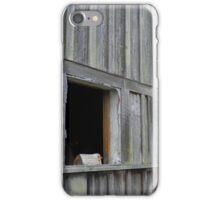 Boarded Up Barn Windows iPhone Case/Skin
