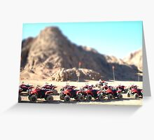 Desert Quads Greeting Card