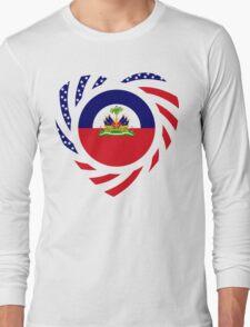 Haitian American Multinational Patriot Flag Series 2.0 Long Sleeve T-Shirt